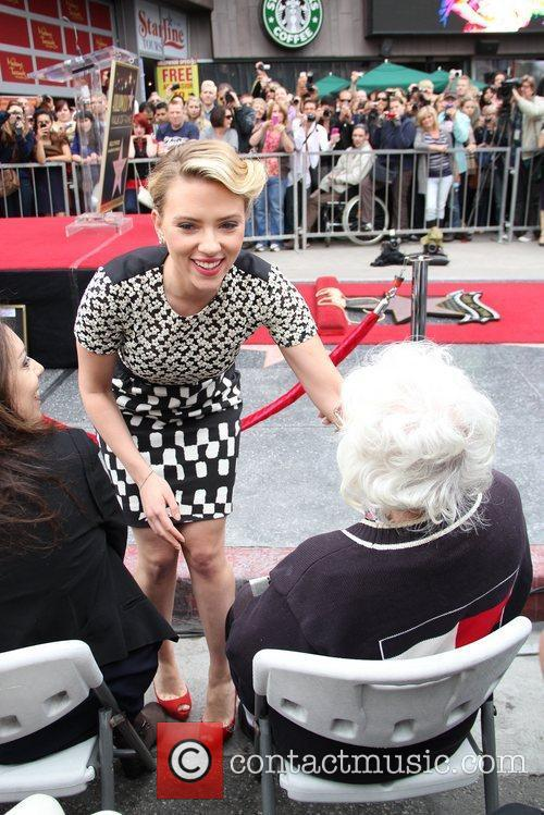 Scarlett Johansson and Star On The Hollywood Walk Of Fame 32