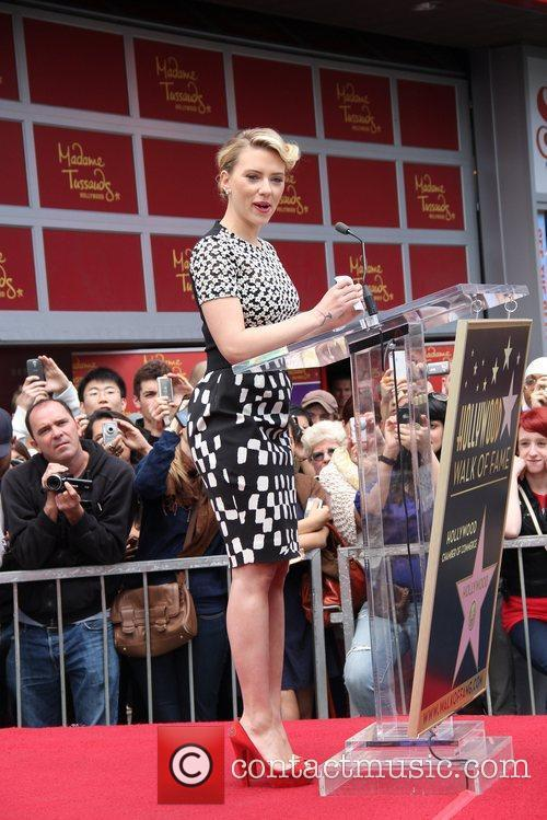Scarlett Johansson and Star On The Hollywood Walk Of Fame 33