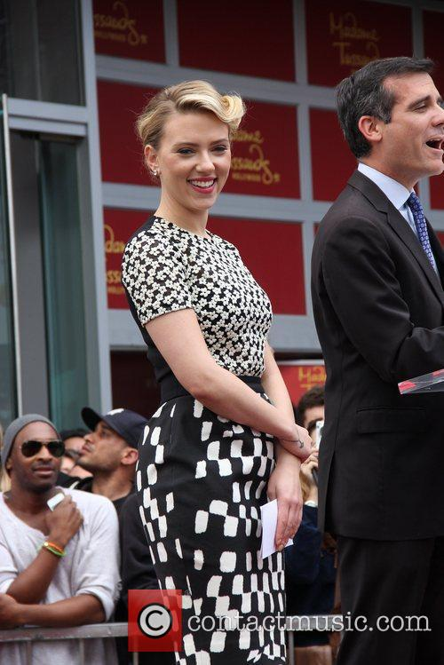 Scarlett Johansson and Star On The Hollywood Walk Of Fame 35
