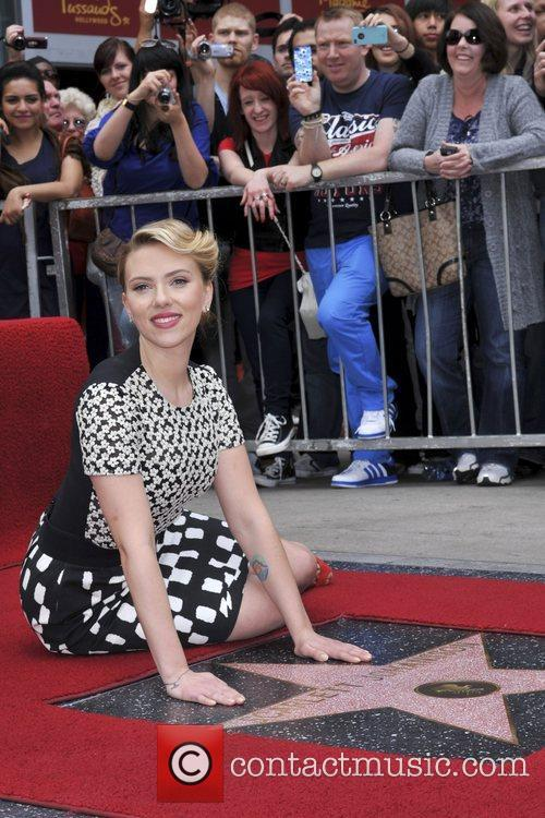 Scarlett Johansson and Star On The Hollywood Walk Of Fame 37