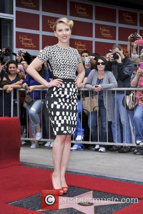 Scarlett Johansson and Star On The Hollywood Walk Of Fame 39
