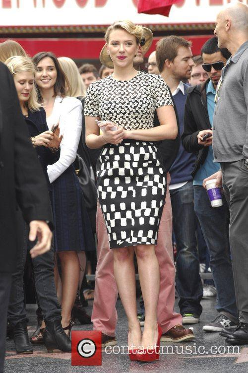 Scarlett Johansson and Star On The Hollywood Walk Of Fame 41