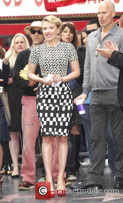 Scarlett Johansson and Star On The Hollywood Walk Of Fame 42