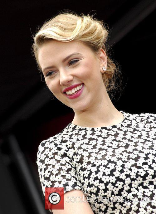 Scarlett Johansson and Star On The Hollywood Walk Of Fame 46