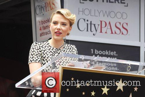 Scarlett Johansson and Star On The Hollywood Walk Of Fame 47