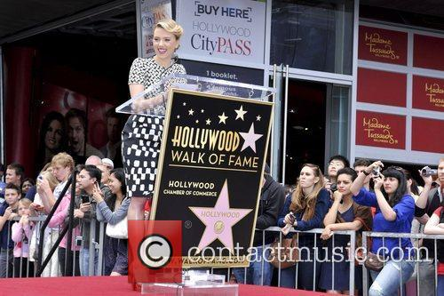 Scarlett Johansson and Star On The Hollywood Walk Of Fame 48