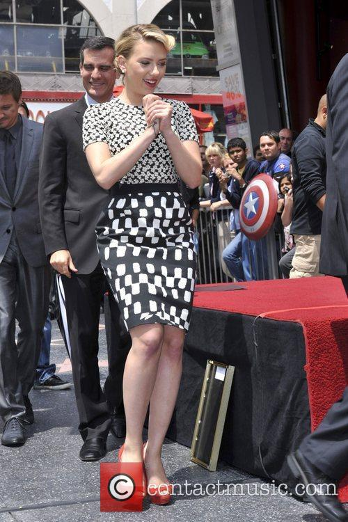 Scarlett Johansson and Star On The Hollywood Walk Of Fame 49