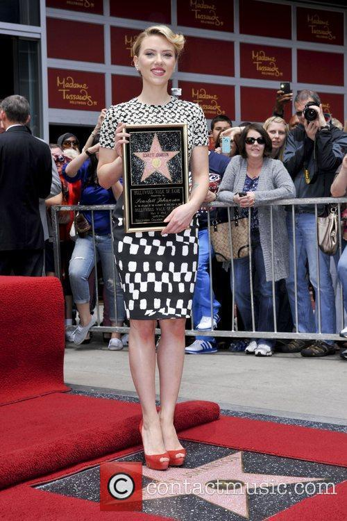 Scarlett Johansson and Star On The Hollywood Walk Of Fame 1