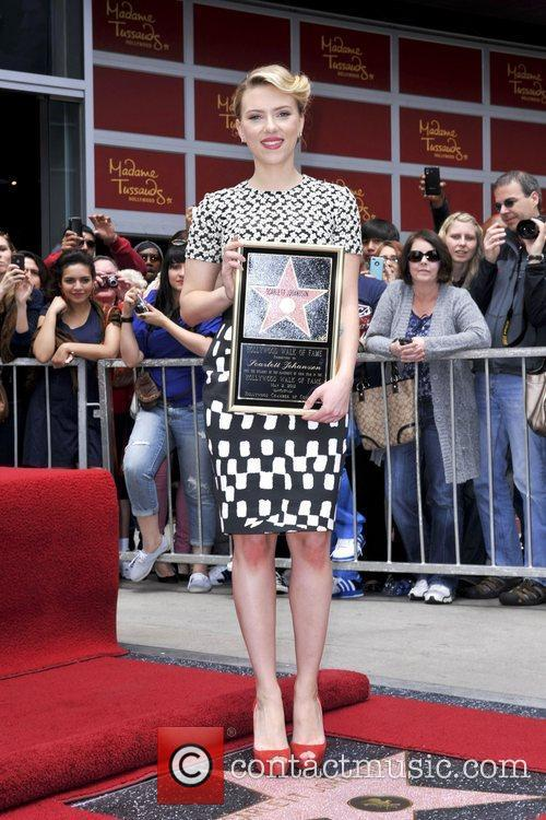 Scarlett Johansson and Star On The Hollywood Walk Of Fame 50