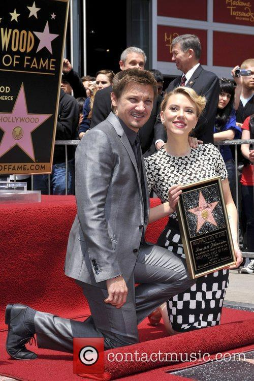 Scarlett Johansson, Jeremy Renner and Star On The Hollywood Walk Of Fame 2