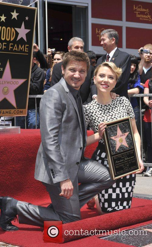 Scarlett Johansson, Jeremy Renner and Star On The Hollywood Walk Of Fame 3