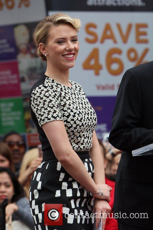 Scarlett Johansson and Star On The Hollywood Walk Of Fame 52