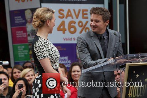 Scarlett Johansson, Jeremy Renner and Star On The Hollywood Walk Of Fame 5