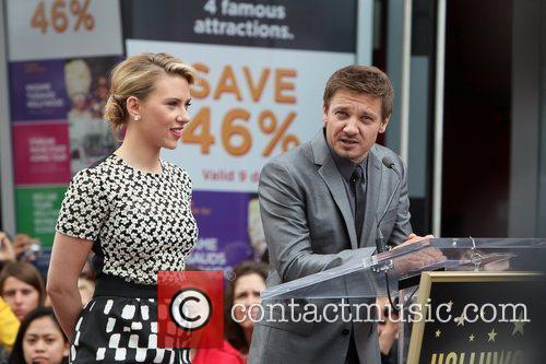 Scarlett Johansson, Jeremy Renner and Star On The Hollywood Walk Of Fame 8
