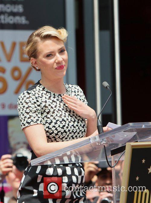 Scarlett Johansson and Star On The Hollywood Walk Of Fame 58