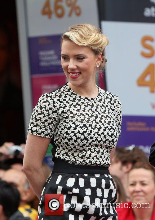 Scarlett Johansson and Star On The Hollywood Walk Of Fame 59