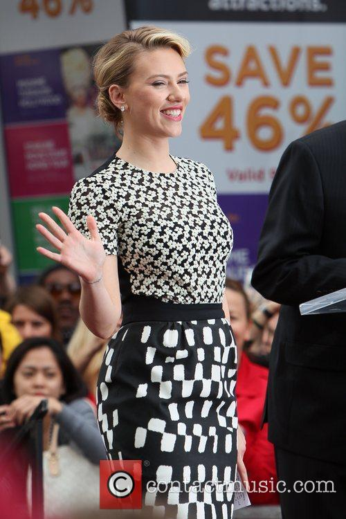 Scarlett Johansson and Star On The Hollywood Walk Of Fame 62