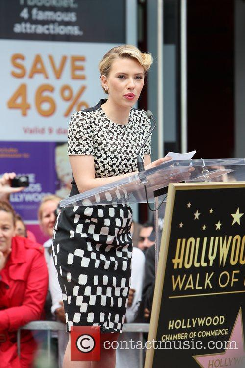 Scarlett Johansson and Star On The Hollywood Walk Of Fame 63