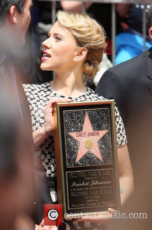 Scarlett Johansson and Star On The Hollywood Walk Of Fame 64