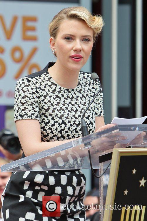 Scarlett Johansson and Star On The Hollywood Walk Of Fame 65