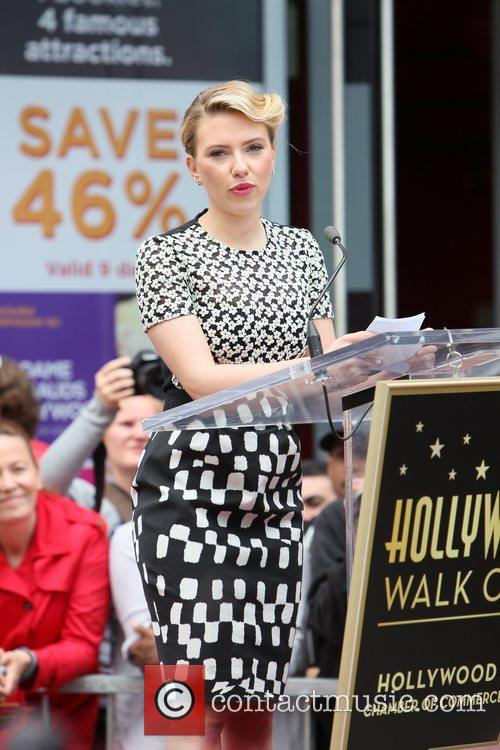 Scarlett Johansson and Star On The Hollywood Walk Of Fame 66