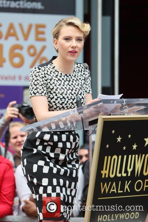 Scarlett Johansson and Star On The Hollywood Walk Of Fame 67