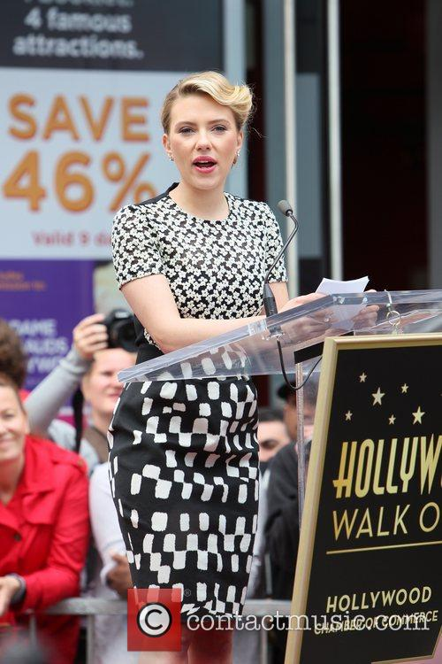 Scarlett Johansson and Star On The Hollywood Walk Of Fame 69