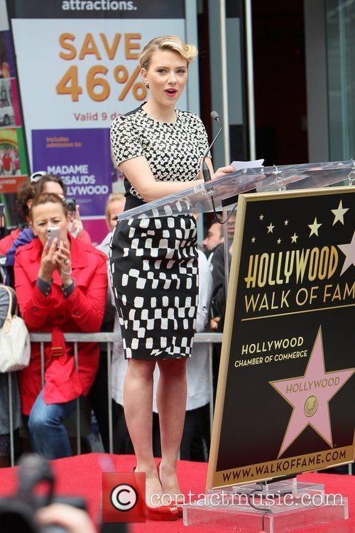 Scarlett Johansson and Star On The Hollywood Walk Of Fame 70