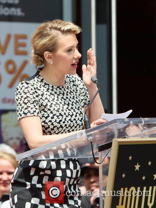 Scarlett Johansson and Star On The Hollywood Walk Of Fame 71