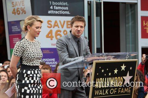 Scarlett Johansson, Jeremy Renner, Star On The Hollywood Walk Of Fame