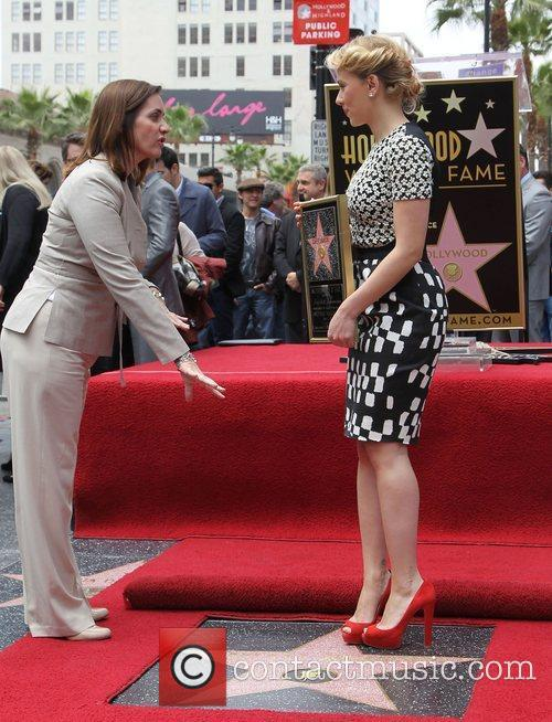 Scarlett Johansson and Star On The Hollywood Walk Of Fame 5