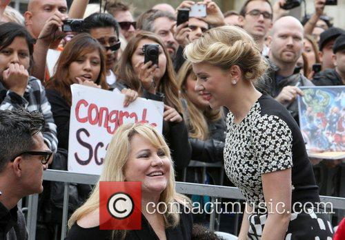 Scarlett Johansson and Star On The Hollywood Walk Of Fame 2