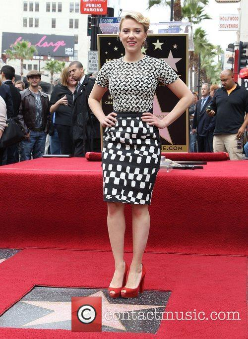 Scarlett Johansson and Star On The Hollywood Walk Of Fame 13
