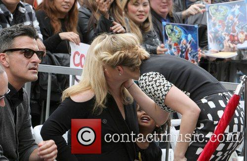 Scarlett Johansson and Star On The Hollywood Walk Of Fame 14