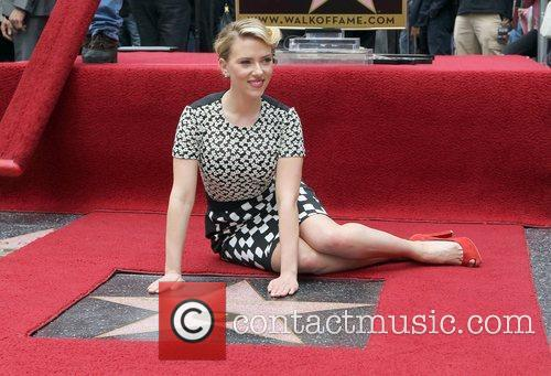 Scarlett Johansson and Star On The Hollywood Walk Of Fame 15