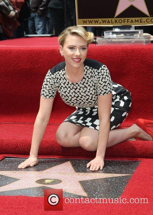 Scarlett Johansson and Star On The Hollywood Walk Of Fame 16