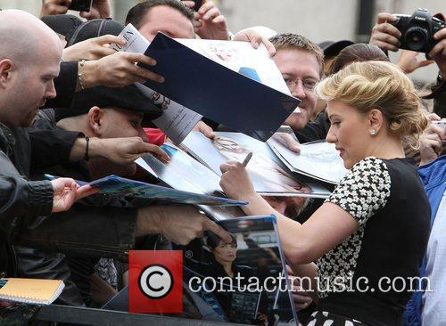 Scarlett Johansson and Star On The Hollywood Walk Of Fame 6