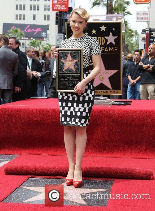 Scarlett Johansson and Star On The Hollywood Walk Of Fame 21