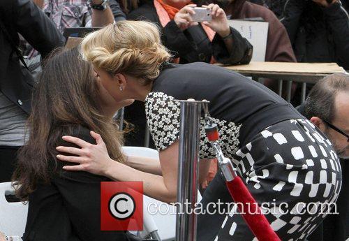 Scarlett Johansson with her mother Melanie Sloan Scarlett...