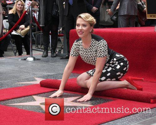 Scarlett Johansson and Star On The Hollywood Walk Of Fame 9