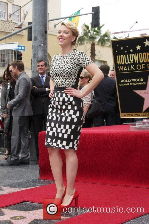 Scarlett Johansson and Star On The Hollywood Walk Of Fame 12