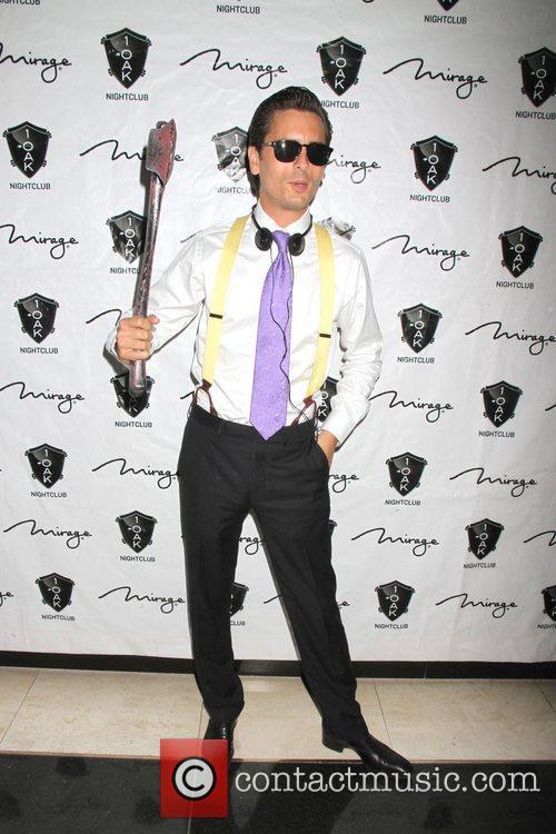 Scott Disick, American Psycho, Halloween Event, Nighclub, Mirage Hotel and Casino 4
