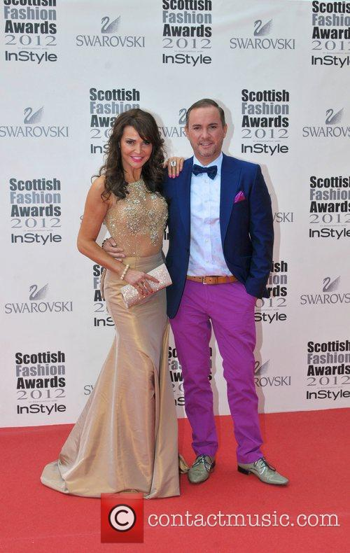 Lizzie Cundy and guest Scottish Fashion Awards held...