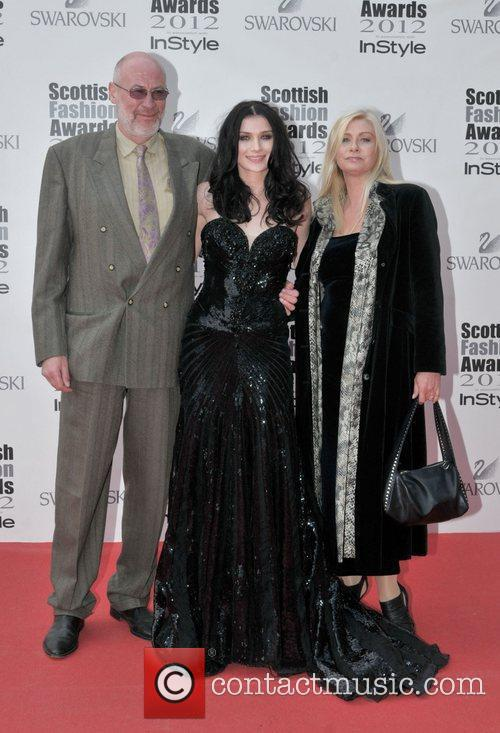 Tara Knowy and guests Scottish Fashion Awards held...