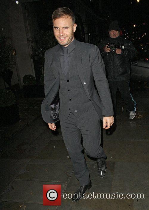 Gary Barlow leaving Scotts restaurant after dining with...