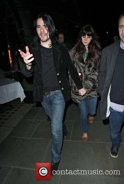 Lana Del Rey with boyfriend Barrie James O`Neil...