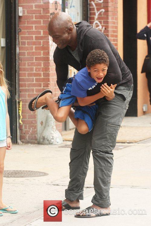 Singer Seal picks up his children from his...