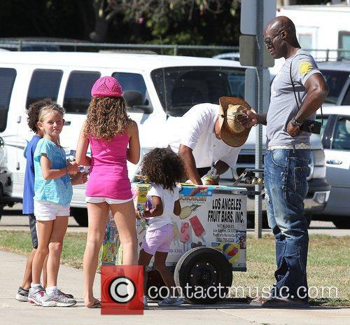 Seal buys his children ice cream at a...