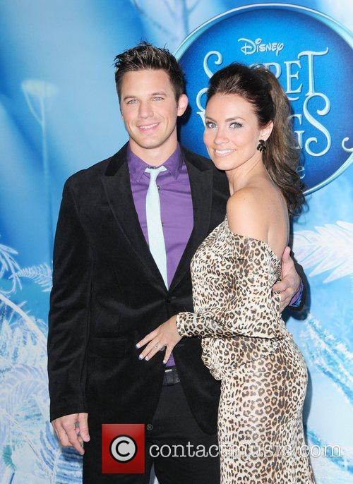Matt Lanter and guest attends the premiere of...