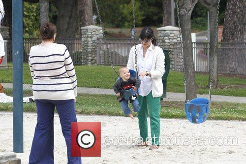 Selma Blair spends the day with her son...
